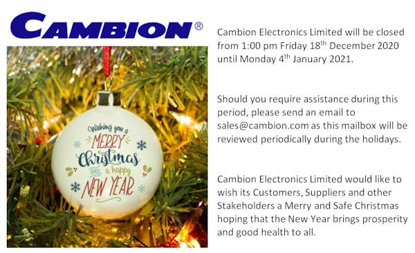 Assistance With Christmas 2021 Cambion Electronics